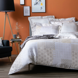 HOLA 卡斯特黃天絲床包兩用被組 雙人