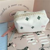 日系雪紡仙人掌刺繡系列之化妝包收納包