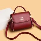 手提包 真皮包包女新款斜挎包高級感中年小包媽媽包秋冬手提包單肩包