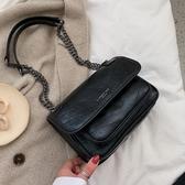秋冬質感休閒包包女新款韓版時尚洋氣百搭鍊條側背斜背流浪包  伊羅鞋包