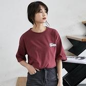 短袖T恤-圓領卡通鯊魚印花女上衣3色73xn17[巴黎精品]