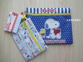 ☆草莓牛奶屋☆日本進口【SNOOPY】三尺寸拉鍊收納袋組(深藍點點)
