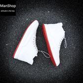 高幫皮鞋 ManShop cl紅底鞋英倫內增高休閑板鞋【UAshoe-422】
