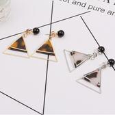 韓系 極簡 個性 耳飾 幾何 三角 珠子 簡約 氣質款 耳環 耳釘 女