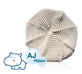 AJ Hippo 小河馬 幼兒報童帽 2-6歲 米色