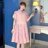 孕婦裙 連衣裙新款孕婦裝春夏裝連衣裙潮少女襯衫裙外出款孕婦裙夏季