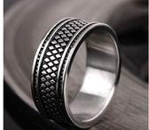 男士個性霸氣鈦鋼戒指LVV1252【KIKIKOKO】