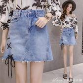 春夏新款韓版高腰牛仔半身裙女寬鬆顯瘦a字裙包臀裙學生短裙艾美時尚衣櫥
