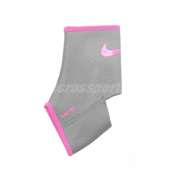 Nike 護踝 Pro Ankle Sleeve AP 2.0 灰 粉 男女款 勾勾 保護 運動 籃球【ACS】 NMS54-070