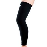 [陽光樂活=](AX)MIZUNO美津濃 薄型加長護膝(雙) 排球護膝 - V2MY802009 黑x白