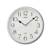 CASIO 手錶專賣店 SEIKO 精工 掛鐘專賣店 QXA747S 銀框黑字掛鐘 礦石鏡面 28公分