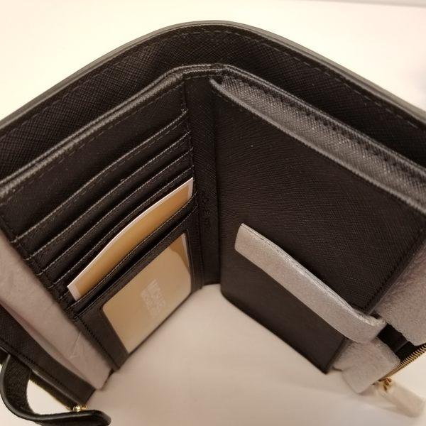 美國 MICHAEL KORS JET SET 防刮皮革手提式雙拉鍊長夾 黑色  $3680限量下殺價 $2750