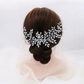 水鑽髮梳-水晶合金枝葉髮插頭飾73xr4【時尚巴黎】