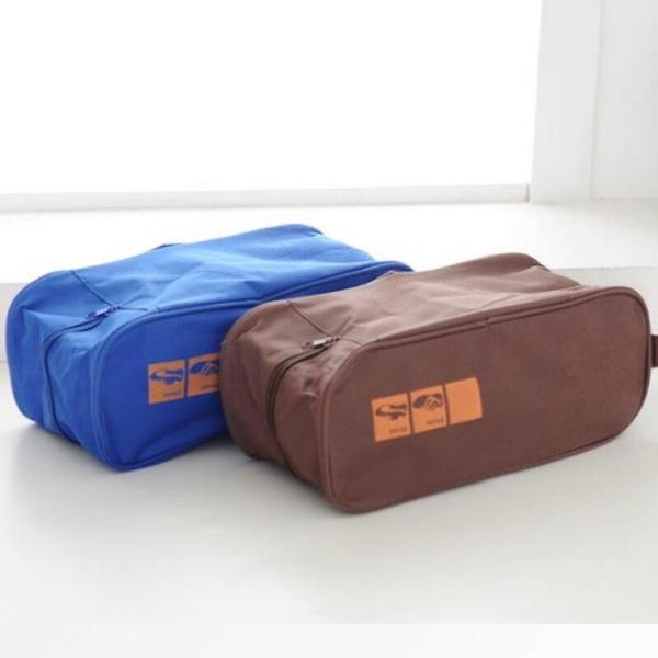 【GK340】旅行用可提式透明鞋袋 可視型透氣鞋包 收納鞋盒~收納袋 EZGO商城