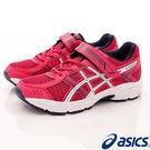 【ASICS】競速童鞋-流線透氣桃藍線運...