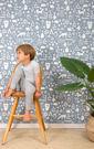 「庫存有限價格」兒童房  籃色動物纹 壁紙 荷蘭 Little Dutch / Adventure blue 8678