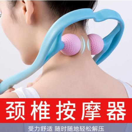 手動 頸椎 按摩器 夾脖子 頸部 夾頸器 多功能 肩頸儀 腰椎 揉捏 家用 小神器