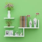 現貨電視壁掛 創意墻壁掛墻上置物架一字隔板裝飾臥室書架客廳電視墻面木板擱板