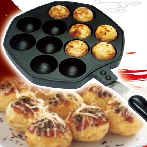 12孔章魚燒烤盤 《三箭牌》 章魚燒模 煎烤盤 WY-013[百貨通]