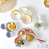 餐盤分格盤兒童 家用分隔陶瓷卡通可愛防摔餐盤【極簡生活】