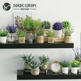 新年大促多肉仿真植物盆栽擺件創意北歐家居室內假花綠植擺設裝飾品 森活雜貨