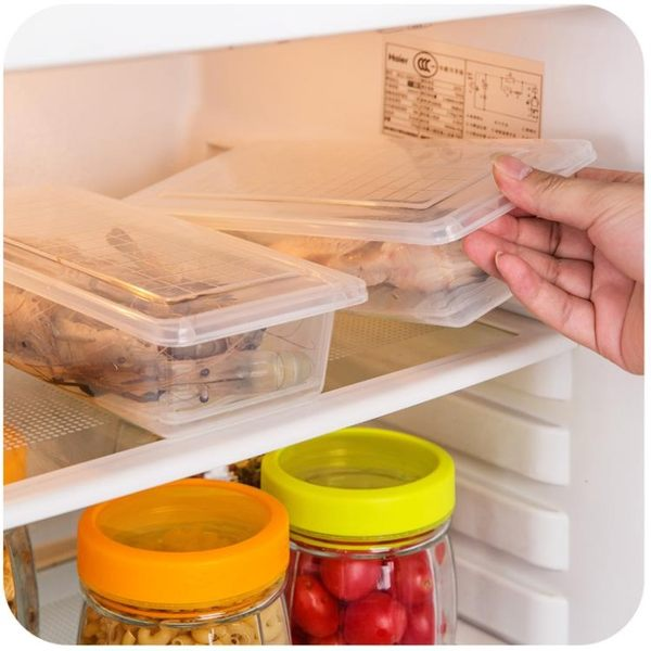 [超豐國際]廚房長方形冰箱瀝水保鮮盒塑料水果盒子食品密封冷凍收納盒