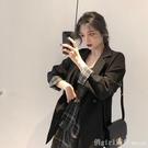 西裝外套 法式網紅小西裝外套女韓版春秋2020年新款寬鬆英倫風黑色休閒西服 618購物節