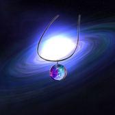 韓版夢幻簡約手工個性水晶清新宇宙玻璃球星空吊墜Eb17777『M&G大尺碼』