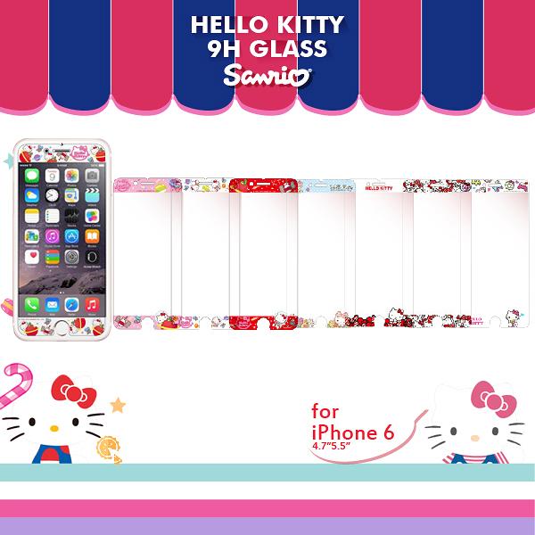 FEEL時尚 iPhone 6 6s 4.7吋 9H正版三麗鷗 HELLO KITTY 非滿版 浮雕鋼化玻璃 手機螢幕保護貼