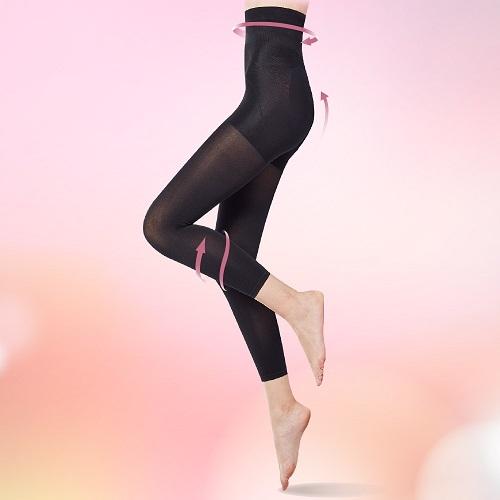 THECURVE 蔻麗芙 全速修身微整型九分褲2入組-經典黑