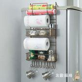 鐵藝冰箱掛架側壁掛冰箱架廚房置物架收納架冰箱側邊調味架xw 全館免運