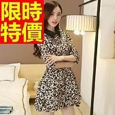 洋裝-長袖焦點甜美撫媚韓版連身裙59m4[巴黎精品]