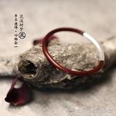 花溪樹夢|西藏雞血藤手鐲女款男款925銀無節情侶木手鐲飾品 聖誕節全館免運
