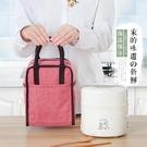 鋁箔保溫便當包女手提飯盒袋帶飯的防水手提包保溫桶飯袋子牛津布