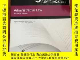 二手書博民逛書店Gilbert罕見Law Summaries: Administ