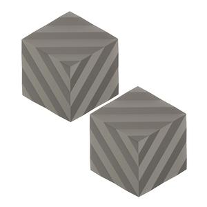 (組)2入丹麥ZONE FOLD系列幾何矽膠鍋墊-泥灰