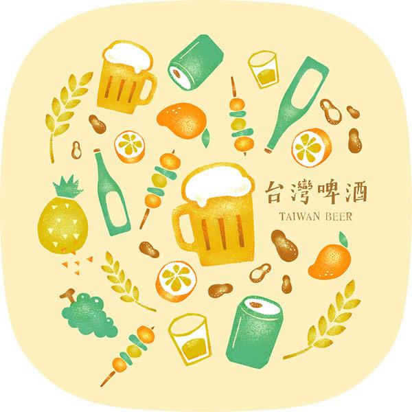 【猴子設計】2311-布杯墊 食遊台灣-台灣啤酒