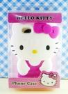 【震撼精品百貨】Hello Kitty 凱蒂貓~HELLO KITTY iPhone5手機造型矽膠殼-站
