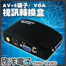 AV+S端子 TO VGA視訊轉換盒(D...