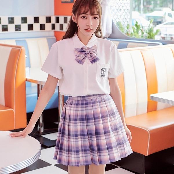 套裝 學院風格紋套裝 上衣+短裙-Ruby s 露比午茶