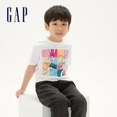 Gap男童Gap x 樂一通卡通動畫系列兔寶寶系列棉質舒適圓領短袖T恤539702-白顏色