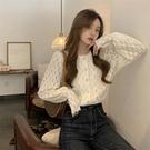 蕾絲雪紡襯衫女秋冬2021新款泡泡袖洋氣性感內搭長袖打底小衫上衣 韓國時尚週