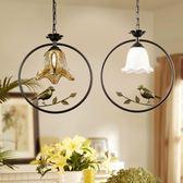 美式鄉村小鳥吊燈 田園風格復古簡約現代玄關陽臺走廊吧臺燈具飾