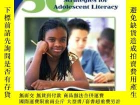 二手書博民逛書店50罕見Content Area Strategies For Adolescent Literacy (merr