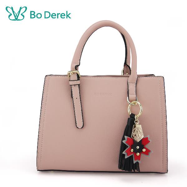 【Bo Derek 】楓葉徽章造型手提/斜背包-黑