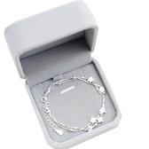 s925純銀雙層手鏈女星星款簡約氣質學生甜美禮物【聚寶屋】