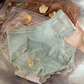 夏季薄款透氣內褲女蕾絲中腰純棉襠抗菌超薄大碼胖mm女士無痕冰絲