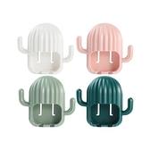 仙人掌造型壁掛式牙刷架(1入) 顏色隨機出貨【小三美日】