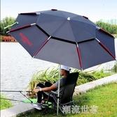 沃鼎2.4/2.2米雙層釣魚傘大釣傘萬向防雨加厚遮陽防風雨傘魚傘MBS『潮流世家』