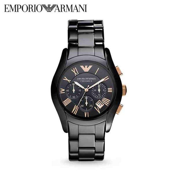 【靚靚小舖】美國代購 EMPORIO ARMANI亞曼尼 奢華休閑商務陶瓷石英錶女錶 AR1411